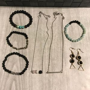 LOT of Essential Oil Lava Rock Jewelry (7 Pieces)